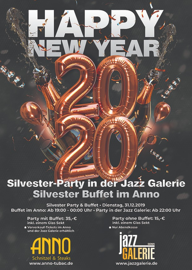 Silvester Party Jazz Gallerie Bonn Anno Tubac